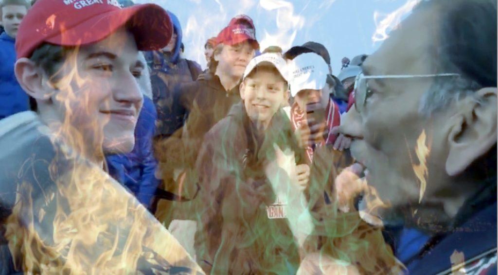 Heated Tension - Media Lies | MAGA vs Native American Veteran
