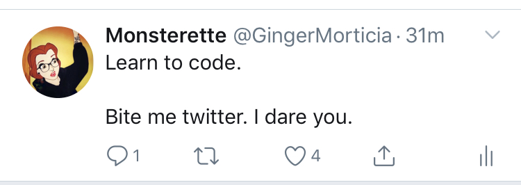 @GingerMorticia | #LearnToCode