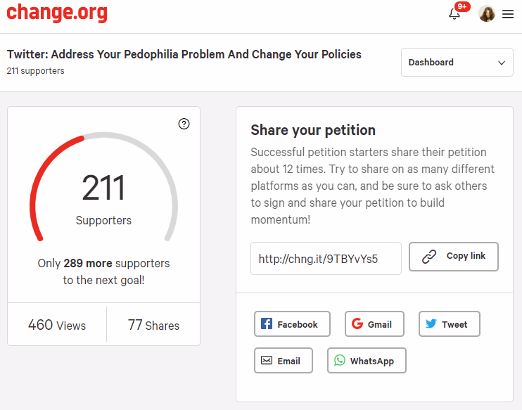 Twitter Pedophile Child Porn Petition