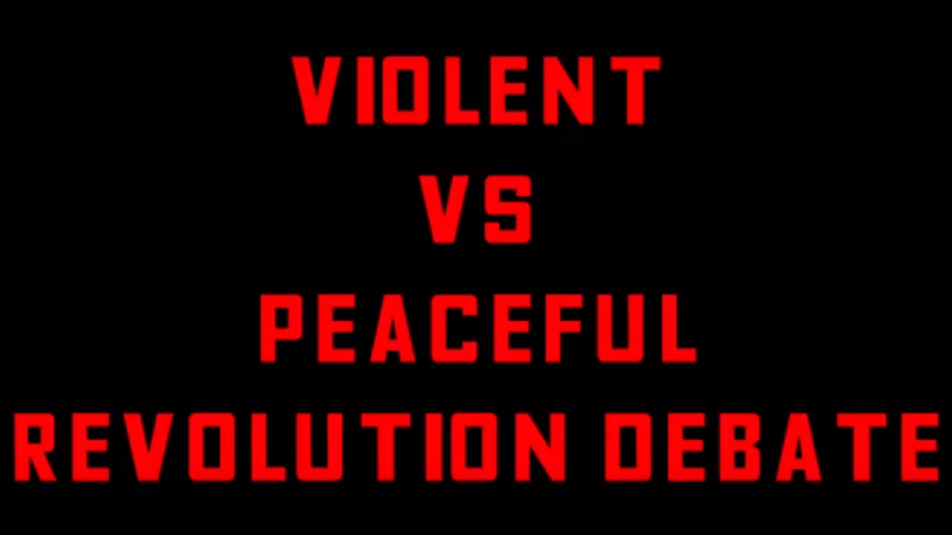 Violent Vs Peaceful Revolution Debate | Jeremiah Harding Vs Kodi Ranting | Opening Statements